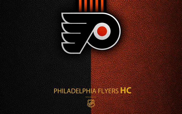 Philadelphia Flyers HC 4K Hockey Team NHL Leather Texture Logo