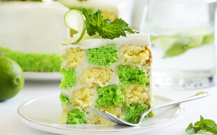 green cake, birthday, cakes, sweets, baked goods