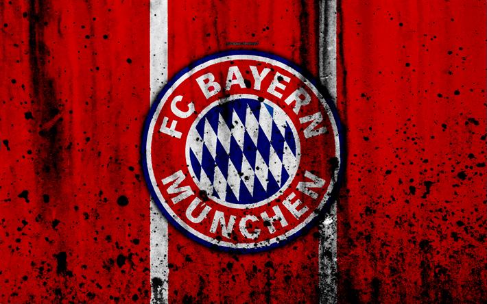 FC Bayern Munich 4k Logo Bundesliga Stone Texture Germany