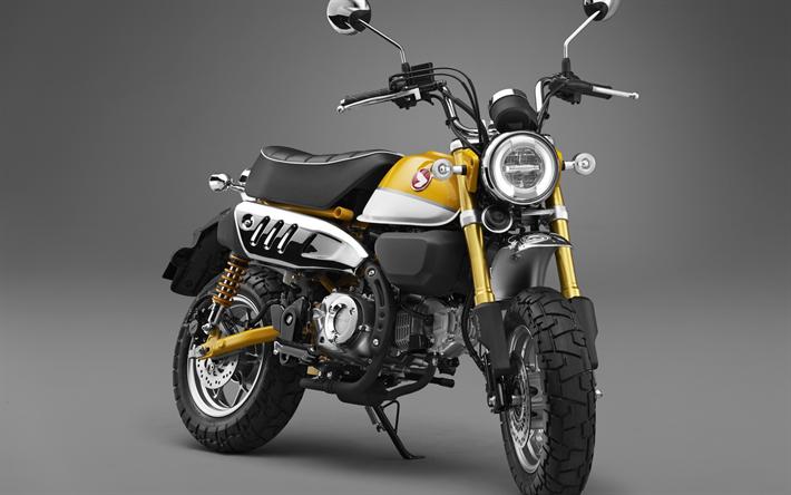 Download Wallpapers 2018 Honda Monkey 125 New Motorcycles Yellow