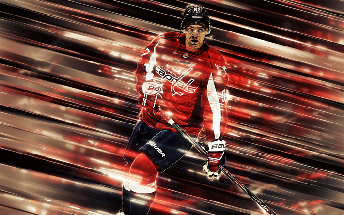 innovative design ce4d7 1eae7 Download wallpapers Jakub Vrana, 4k, Washington Capitals ...