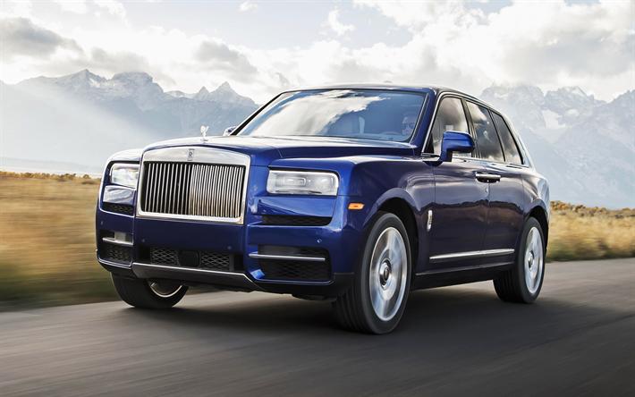 Download Wallpapers Rolls Royce Cullinan Road 2018 Cars