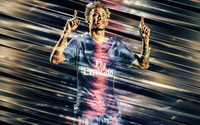 Neymar Jr, Paris Saint-Germain, Brazilian football player, striker, art, football star, PSG, Ligue 1, France, Brazilian famous football players, Neymar