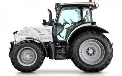 Lamborghini Spark 130 VRT, side view, modern tractor, new white Spark 130, modern agricultural machinery, Lamborghini