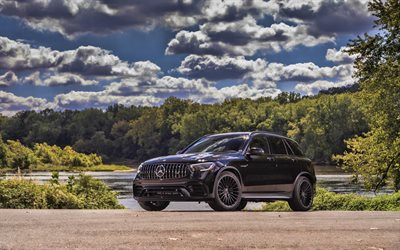 Mercedes-AMG GLC63, 4k, HDR, 2019 cars, SUVs, X253, 2019 Mercedes-Benz GLC-class, german cars, Mercedes