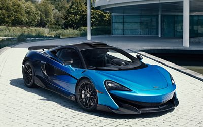 2019, McLaren 600LT, Comet Fade, MSO, blue supercar, tuning 600LT, new blue 600LT, British sports cars, McLaren