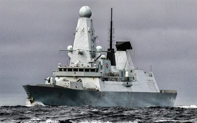 HMS Diamond, D34, british destroyer, british warship, Daring-class air-defence destroyer, Royal Navy