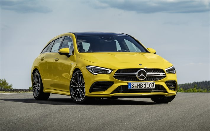 Download Wallpapers 2020 Mercedes Amg Cla 35 Shooting
