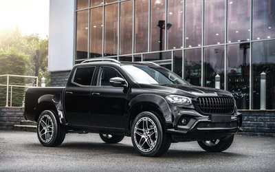 Project Kahn, tuning, Mercedes-Benz X350, SUVs, 2019 cars, black pickup, 2019 Mercedes-Benz X-class, german cars, Mercedes