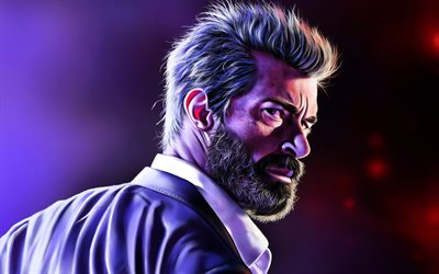 4k, Logan, Wolverine, fan art, superheroes, James Howlett, artwork, X-Men, Marvel Comics