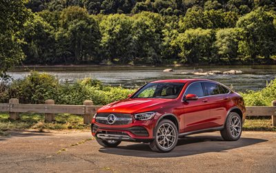 Mercedes-Benz GLC300 Coupe, 4k, HDR, 2019 cars, C253, 2019 Mercedes-Benz GLC-class, german cars, new GLC, Mercedes