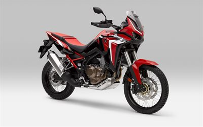 2021, Honda Africa Twin CRF850L, exterior, front view, new red CRF850L, japanese motorcycles, Honda