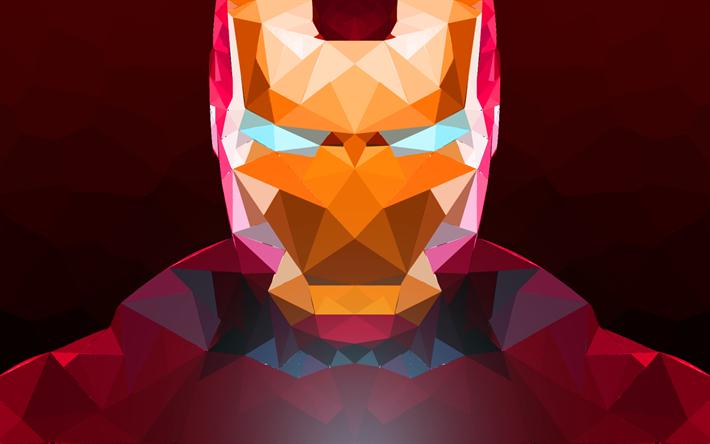 Scarica sfondi iron man il mosaico l 39 arte il supereroe for Sfondi iron man