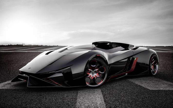 Download Wallpapers Lamborghini Egoista 2018 Cars Hypercars