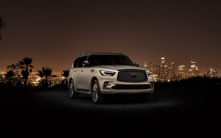 Download Wallpapers Infiniti QX80, 2018, Luxury SUV