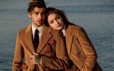 gigi hadid, zayn malik, 2017, superstars, hollywood