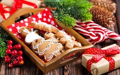Cookies, Christmas, New Year, baking, decorations