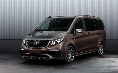 Mercedes-Benz V-Class Inferno, 4k, studio, tunned V-Class, 2017 cars, minivans, TopCar, tuning, Mercedes