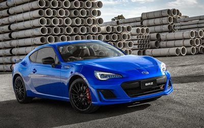 Subaru BRZ, 2018, blue sports coupe, Japanese cars, blue BRZ