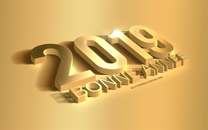 Download Wallpapers Bonne Annee 2019 Happy New Year In French