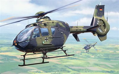 H135, Eurocopter EC135, German military helicopter, Luftwaffe, Airbus Helicopters, German Air Force