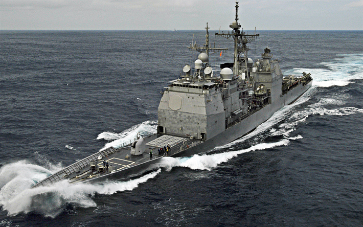 USS Chancellorsville, CG-62, guided-missile cruiser, Ticonderoga-class, USA, American warships, the US Navy