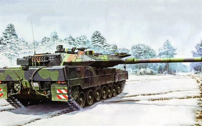 Leopard 2А7, German main battle tank, Bundeswehr, Rheinmetall Rh-120, 120 mm tank gun, modern tanks