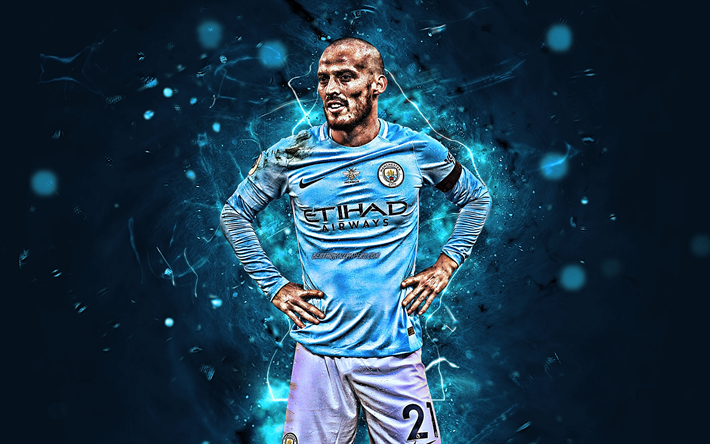 Download Wallpapers David Silva Spanish Footballers Manchester