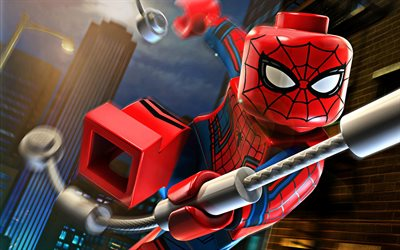 Spiderman, 3D art, Spider-Man, supersankareita, Lego Spiderman