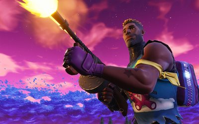 Brite Gunner, 4k, Fortnite, Stagione 6, 2018 giochi, guerriero, Fortnite Battle Royale, Fortnite 4k