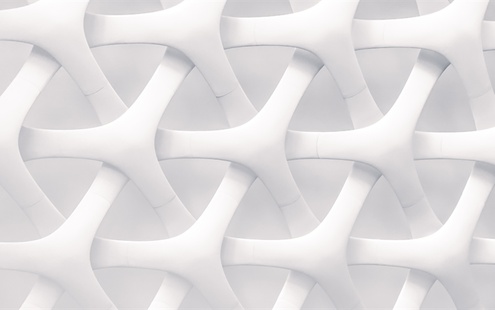 Download Wallpapers White 3d Texture 3d White Objects Stylish White Texture Art White 3d Art Background For Desktop Free Pictures For Desktop Free