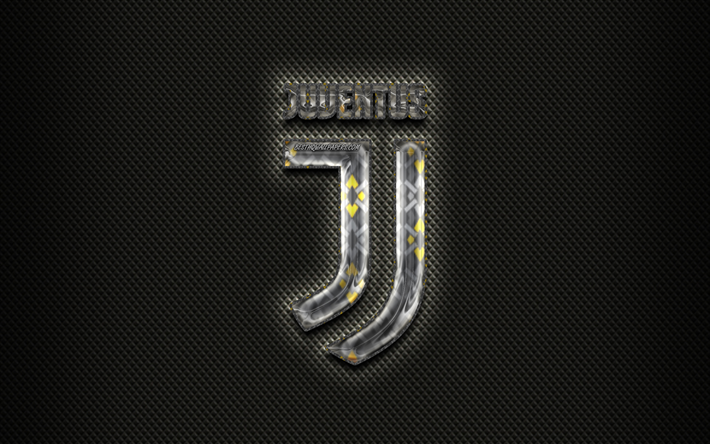 Scarica Sfondi Juventus Logo 3d Sfondo Nero Juve Serie A Calcio