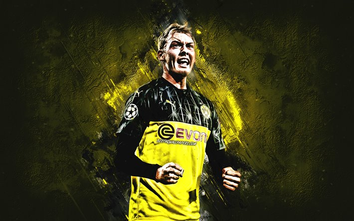 Download Wallpapers Julian Brandt Borussia Dortmund Bvb German Football Player Attacking Midfielder Portrait German Soccer Player Yellow Stone Background Bundesliga Germany Football For Desktop Free Pictures For Desktop Free