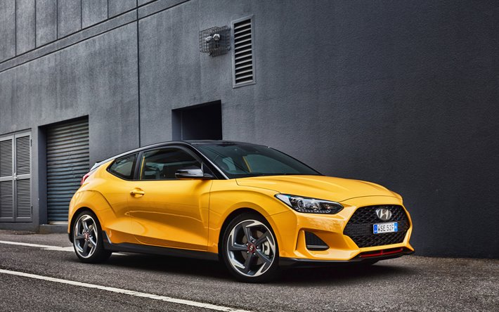 Download Wallpapers 4k Hyundai Veloster Turbo Street Au Spec 2019 Cars Supercars Yellow Veloster 2019 Hyundai Veloster Korean Cars Hyundai For Desktop Free Pictures For Desktop Free