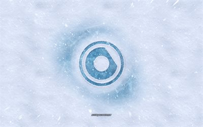 Nicky Romero logo, winter concepts, Nick Rotteveel, snow texture, snow background, Dutch DJ, Nicky Romero emblem, winter art, Nicky Romero