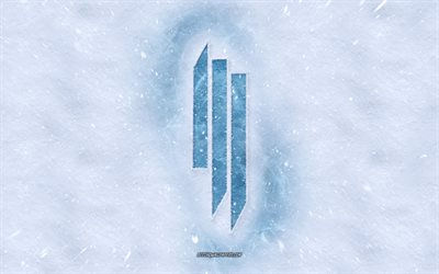Skrillex logo, winter concepts, Sonny John Moore, snow texture, snow background, Skrillex emblem, winter art, Skrillex