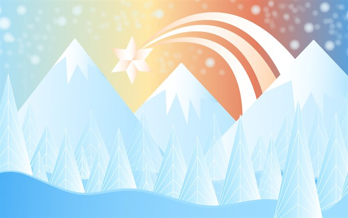 Download Wallpapers 4k Abstract Winter Landscape Mountains