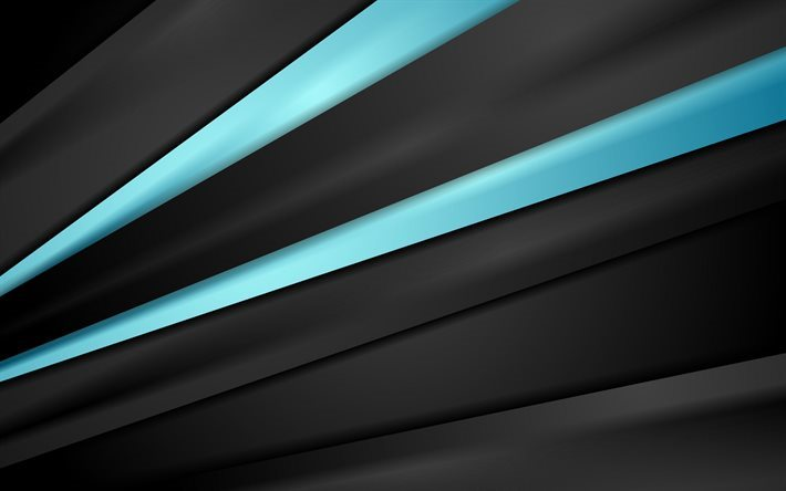 Abstract Dark Background Blue Lines Light Black