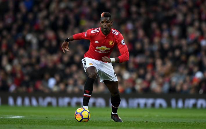 Download Wallpapers Paul Pogba, 4k, Football Stars, Match