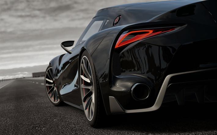 Toyota Ft 1 >> Télécharger fonds d'écran Toyota FT1, 4k, noir supercar ...