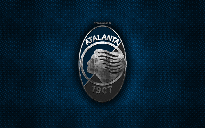 download wallpapers atalanta bc italian football club blue metal texture metal logo emblem bergamo italy serie a creative art football atalanta for desktop free pictures for desktop free download wallpapers atalanta bc