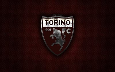 O Torino FC, Italiano de futebol do clube, brown textura do metal, logotipo do metal, emblema, Udine, Turim, Serie A, arte criativa, futebol