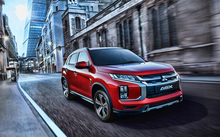 Download Wallpapers Mitsubishi Asx 4k Street 2019 Cars