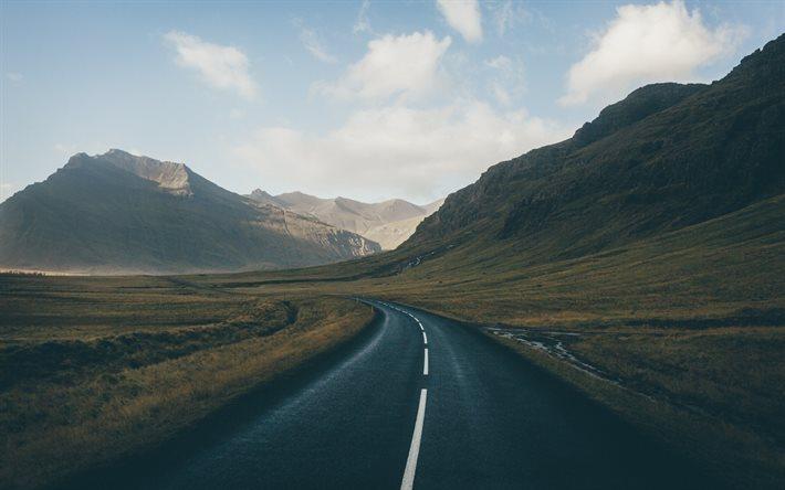 Iceland S Ring Road Wallpapers: Scarica Sfondi Islanda, Montagna, Strada, Valle Per