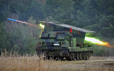 M270 MLRS, Mars 2, Multiple Launch Rocket System, MLRS, Germany, Bundeswehr, modern armored vehicles, army of Germany