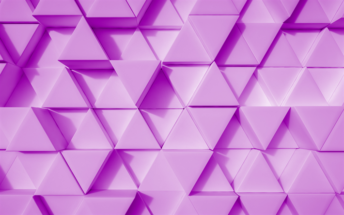 pink 3d background, 3d pyramid, creative 3d background, 3d texture, triangles