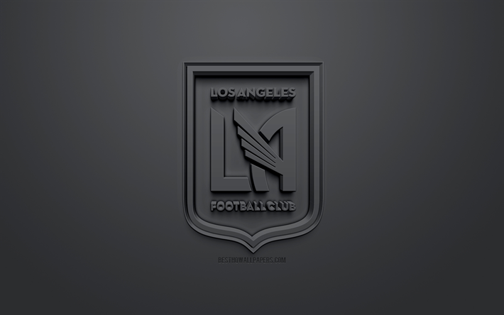 Download Wallpapers Los Angeles Fc Lafc Creative 3d Logo