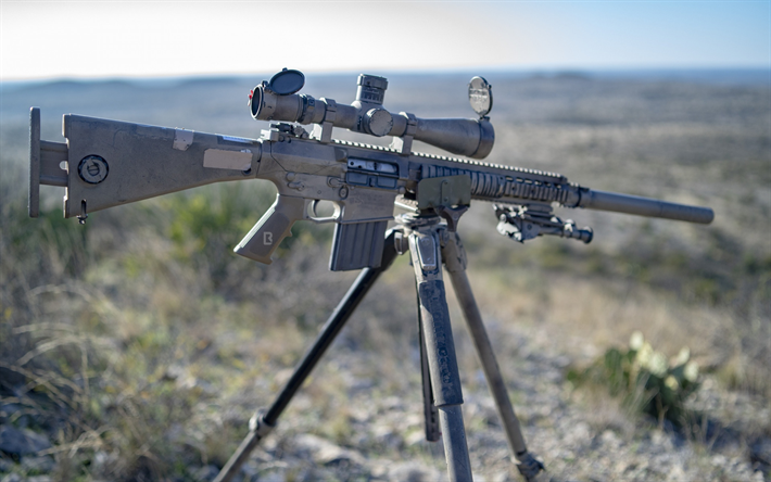 M110 Semi-Automatic Sniper System, M110 SASS, American sniper rifle, Marksman Rifle, American weapons