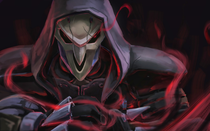 Reaper, darkness, Overwatch characters, warrior, 2019 games, shooter, Overwatch
