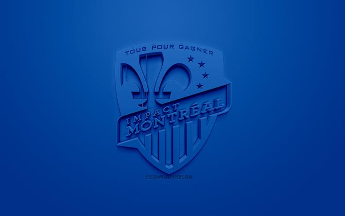 thumb2 montreal impact creative 3d logo blue background 3d emblem canadian soccer club